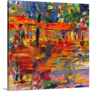 'Falling Leaves, Paris' by Peter Graham Painting Print on Canvas by Great Big Canvas