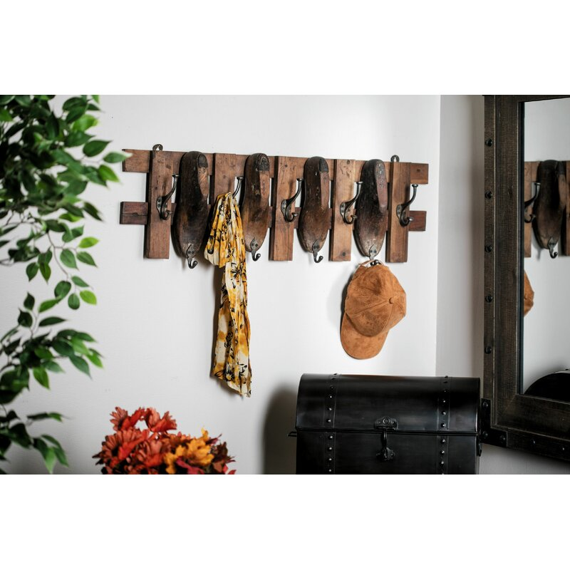 Millwood Pines Alberty Rustic Vintage Wall Mounted Coat Rack