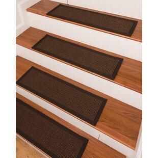 Delightful Coatesville Brown Stair Tread (Set Of 13)