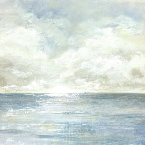 'Tranquil Sea I' Square Painting Print on Wrapped Canvas by Mercury Row