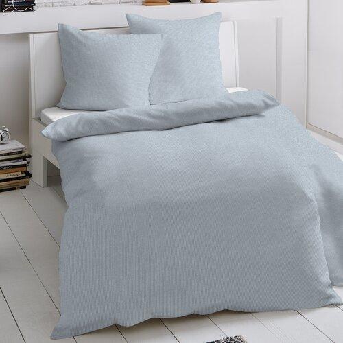 Bettwäsche Fischgrat Dormisette Größe: 135 x 200 cm - 1 Kissenbezug 80 x 80 cm  Farbe: Blau   Heimtextilien > Bettwäsche und Laken > Bettwäsche-Garnituren   Dormisette