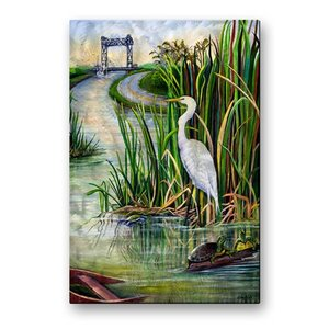'Louisiana Wetlands' by Elaine Hodges Painting Print Plaque by All My Walls