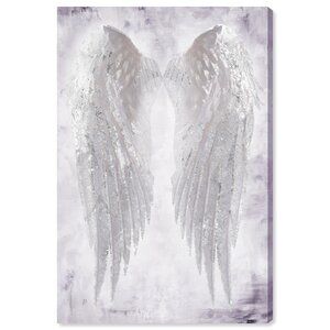 'Wings of Angel Amethyst' Graphic Art Print on Wrapped Canvas by Latitude Run
