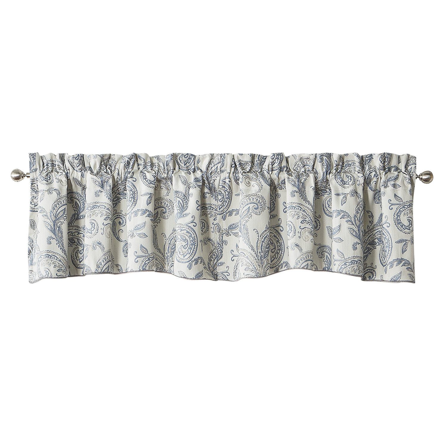 Thermal Insulated Turquoise Blue Birds Country Style Pattern Privacy Protection Kitchen Valances For Windows Room Darkening Curtain Valances For Bedroom 1 Panel 58 X 15 Inch Rod Pocket Valences