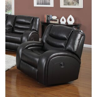 Hinkson Upholstered Manual Glider Recliner Red Barrel Studio