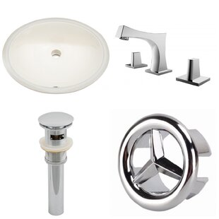 Affordable Price CUPC Ceramic Oval Undermount Bathroom Sink with Faucet and Overflow ByRoyal Purple Bath Kitchen