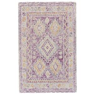 Carlotta Hand-Tufted Purple Area Rug