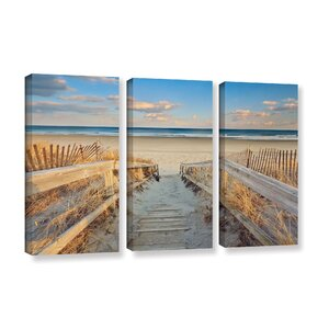 'Waiting For Summer' 3 Piece Photographic Print on Wrapped Canvas Set by Rosecliff Heights
