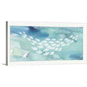 'Sea Life II' by Lisa Audit Painting Print on Wrapped Canvas by Great Big Canvas