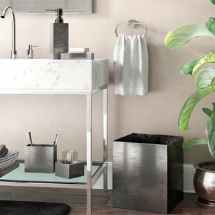 Calhoun Steely 4 Piece Bathroom Accessory Set ByWade Logan