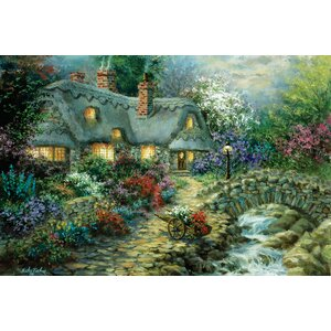 'Country Cottage' Painting Print on Canvas by East Urban Home