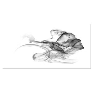 'Woman and Smoke Double Exposure' Graphic Art on Wrapped Canvas by Design Art