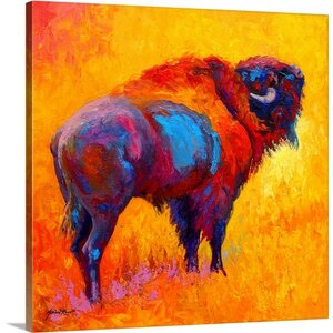 Something In The Air Bison by Marion Rose Painting Print on Wrapped Canvas by Great Big Canvas