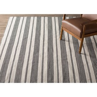 Price Check Alicea Hand-Woven Black Area Rug ByThree Posts