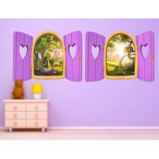 Heart Window Wall Decal