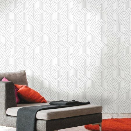 Rumsey Stripped Hexagon 16 5 L X 20 W Geometric And Stick Wallpaper Roll
