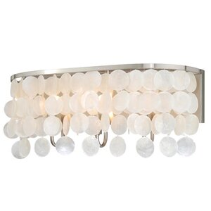Kym Capiz Shell 3-Light Vanity Light