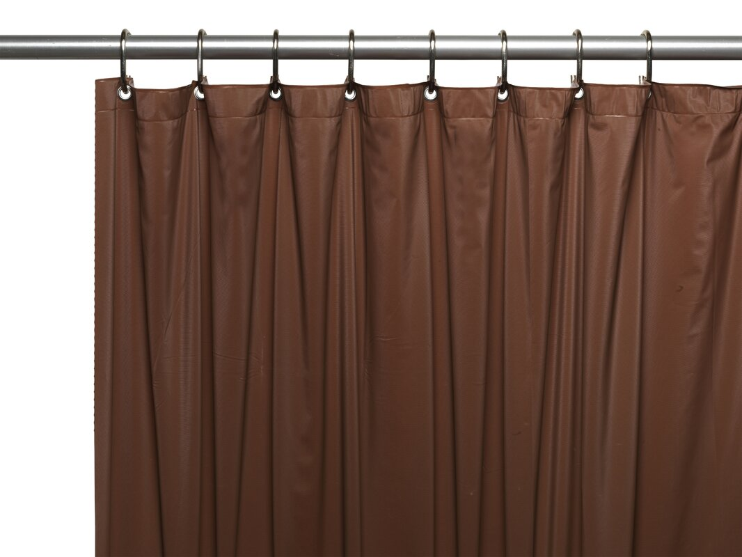 Ben and Jonah Hotel 8 Gauge Vinyl Shower Curtain Liner with Metal ...