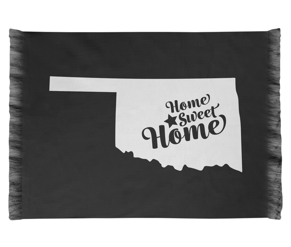 Home Sweet Oklahoma City Black Area Rug