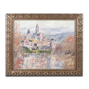 The Village of Vetheuil by Claude Monet Framed Painting Print by Trademark Fine Art