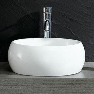 Order Modern Ceramic Circular Vessel Bathroom Sink ByFine Fixtures