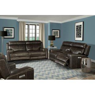 Maravilla 3 Piece Leather Reclining Living Room Set by Latitude Run®