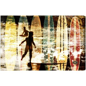 Surfing Australia Graphic Art on Canvas by Oliver Gal