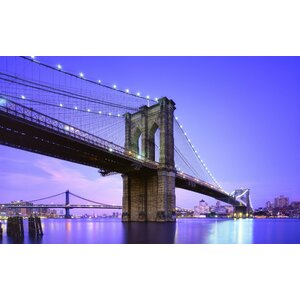 LED Lighted Famous New York City Brooklyn Bridge Photographic Print on Canvas by Northlight Seasonal