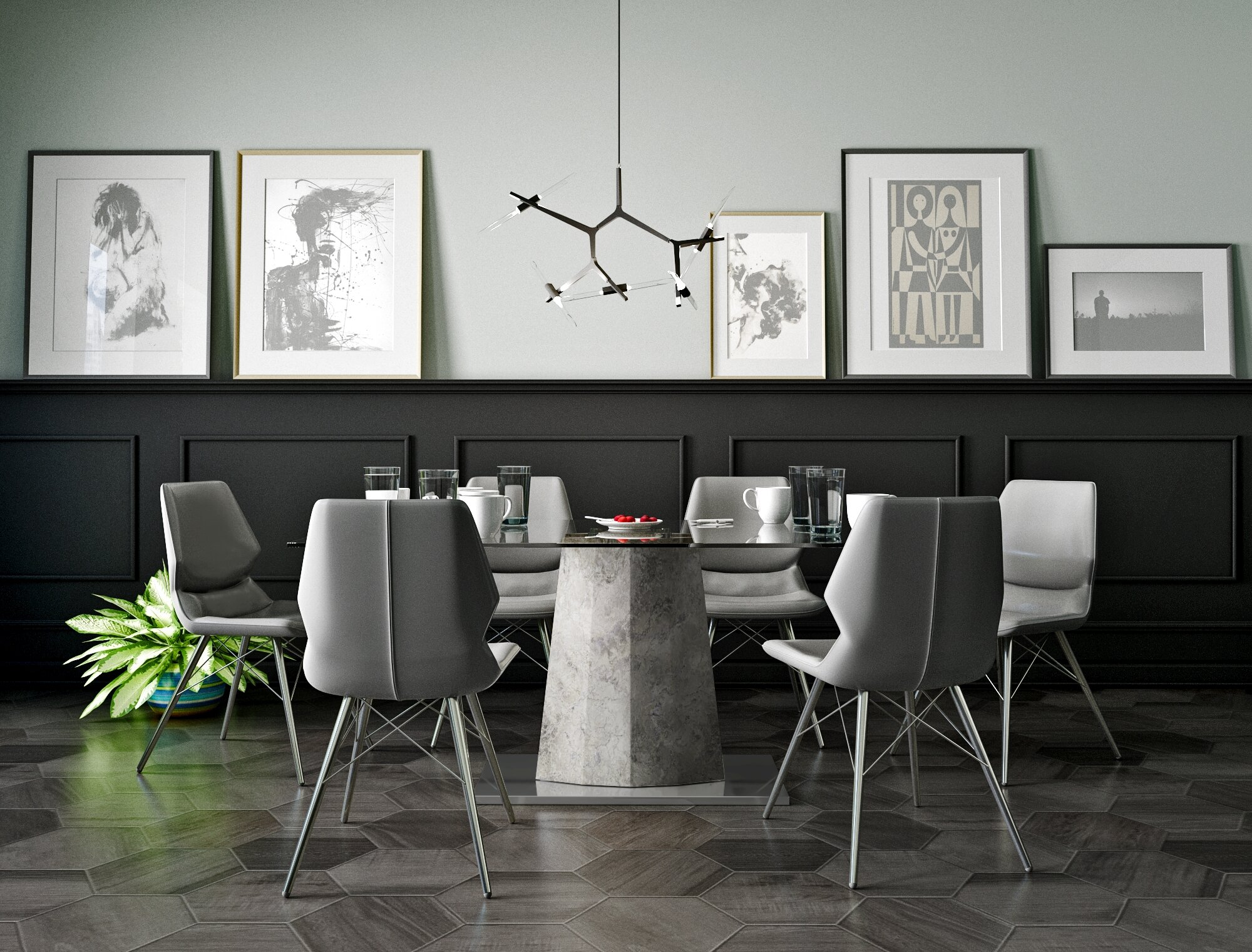 Amazing Foundry Select Anastasia Contemporary 7 Piece Dining Set | Wayfair
