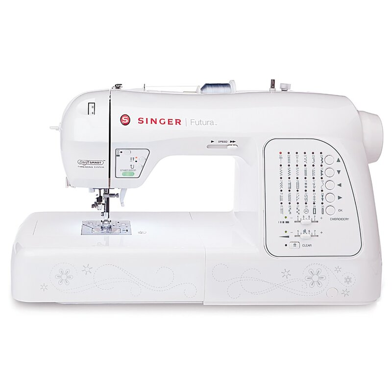Singer Futura Embroidery And Sewing Machine Wayfair Stunning Embroidery Sewing Machine