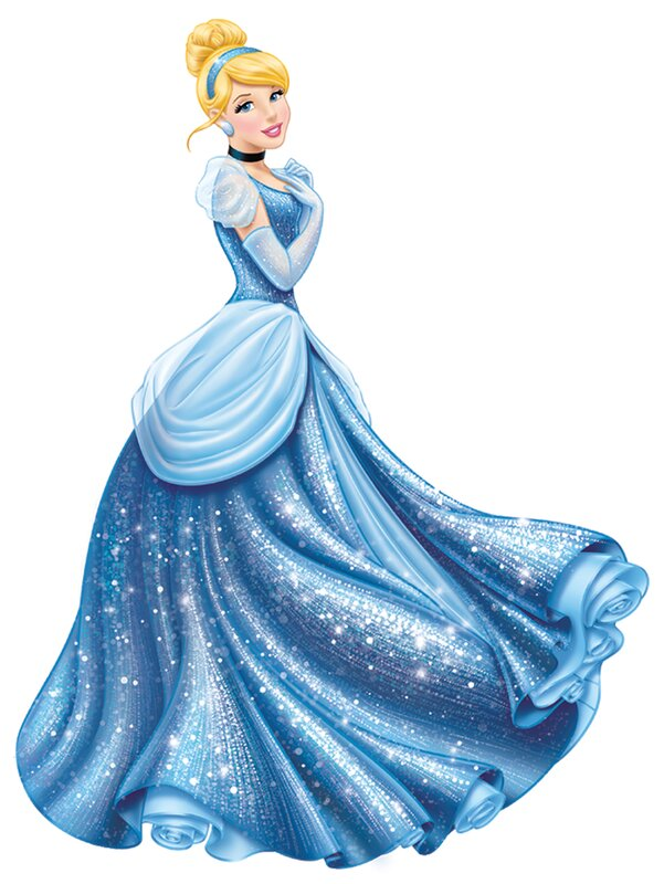 Room mates popular characters disney princess cinderella glamour popular characters disney princess cinderella glamour giant wall decal altavistaventures Image collections