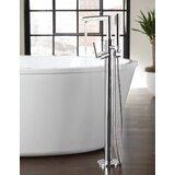 Arris Single Handle Floor Mount Tub Filler Trim with Hand Shower byMoen