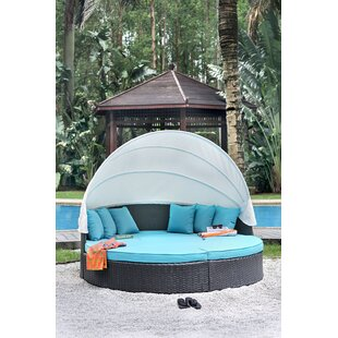 Linck Canopy Patio Daybed with Cushions by Rosecliff Heights
