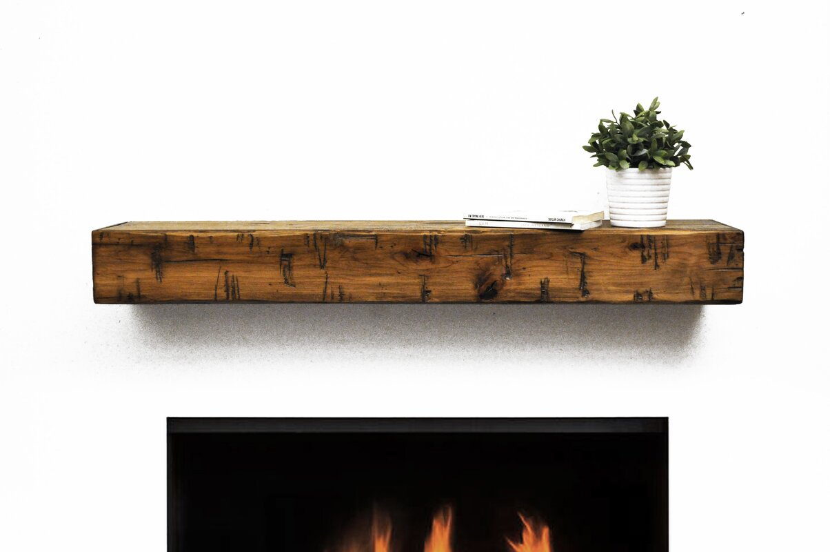 Dogberry Collections Rustic Fireplace Mantel Shelf & Reviews | Wayfair