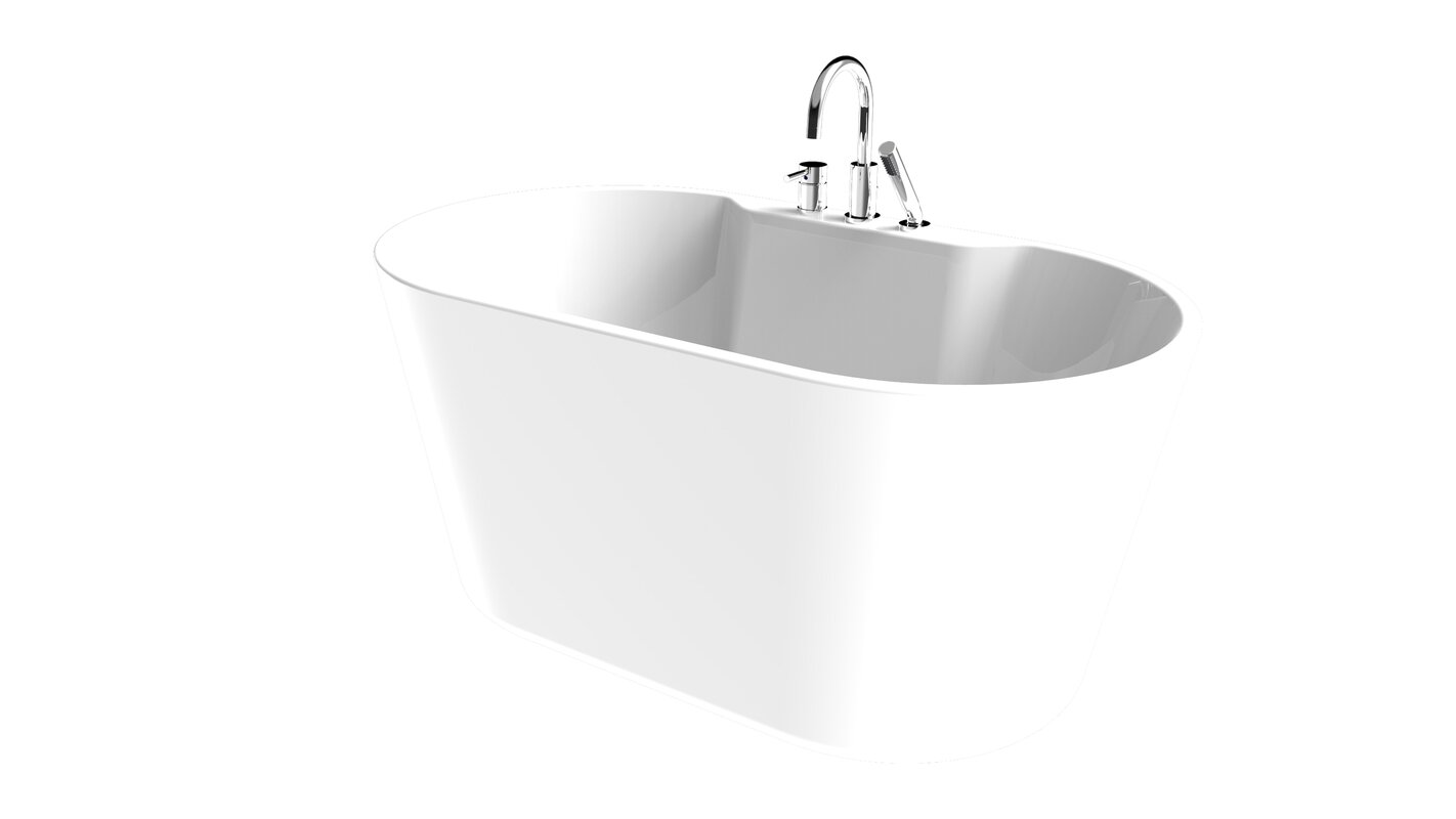 "56"" x 31.5"" Freestanding Soaking Bathtub"