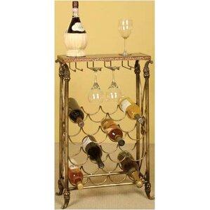 Knotts Lane 16 Bottle Floor Wine Rack by Charlton Home