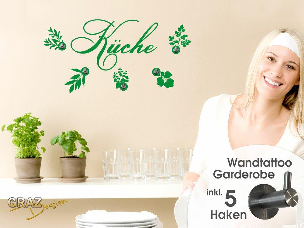 Graz Design Garderobenhaken Küche Mit Kräuter Handtuchhalter