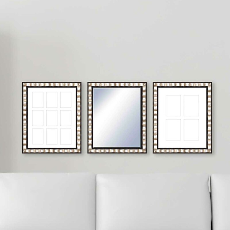 Wall Mirror Set ptm 3 piece francesca frame and wall mirror set | wayfair