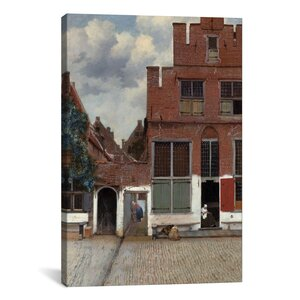 'Street in Delft' by Johannes Vermeer Painting Print on Wrapped Canvas by iCanvas