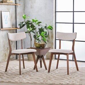putnam upholstered wood dining chair set of 2