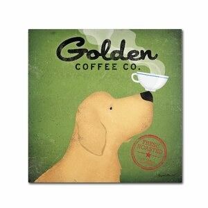 Golden Coffee Co by Ryan Fowler Graphic Art on Wrapped Canvas by Trademark Fine Art