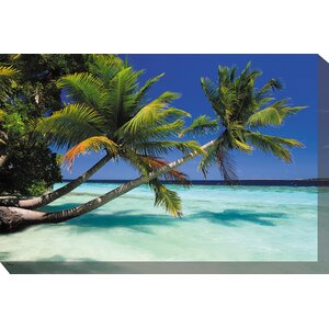 Palms Duo Framed Photographic Print on Wrapped Canvas by West of the Wind Outdoor Canvas Art