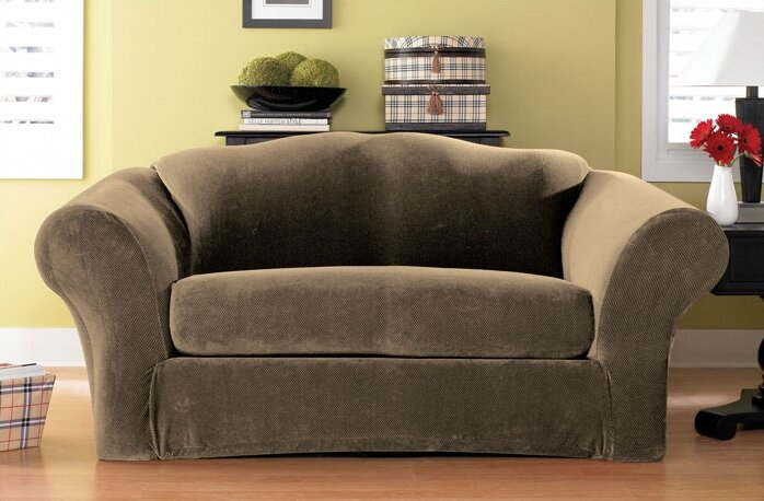 Sure Fit Stretch Pique Box Cushion Sofa Slipcover & Reviews