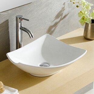 Read Reviews Modern Ceramic Specialty Vessel Bathroom Sink ByFine Fixtures