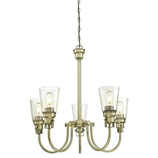 Mullikin Indoor 5-Light Shaded Chandelier by Beachcrest Home