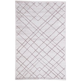 Great Price Basset Power-Loomed White Area Rug ByWilliston Forge