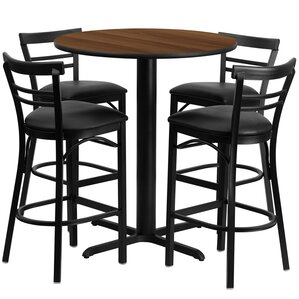 Pub Tables  Bistro Sets Youll Love Wayfair - Bar stools and table set