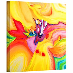 'Secret Life of Lily' Painting Print on Wrapped Canvas by Zipcode Design