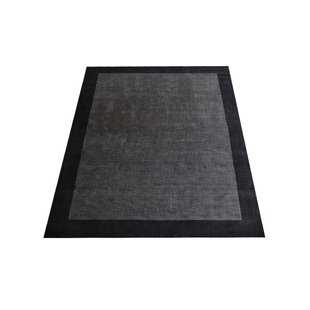 Order Ry Hand-Knotted Wool Charcoal/Black Area Rug ByLatitude Run