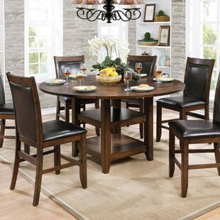 Read Reviews Fells Wooden Round Counter Height Dining Table ByDarby Home Co